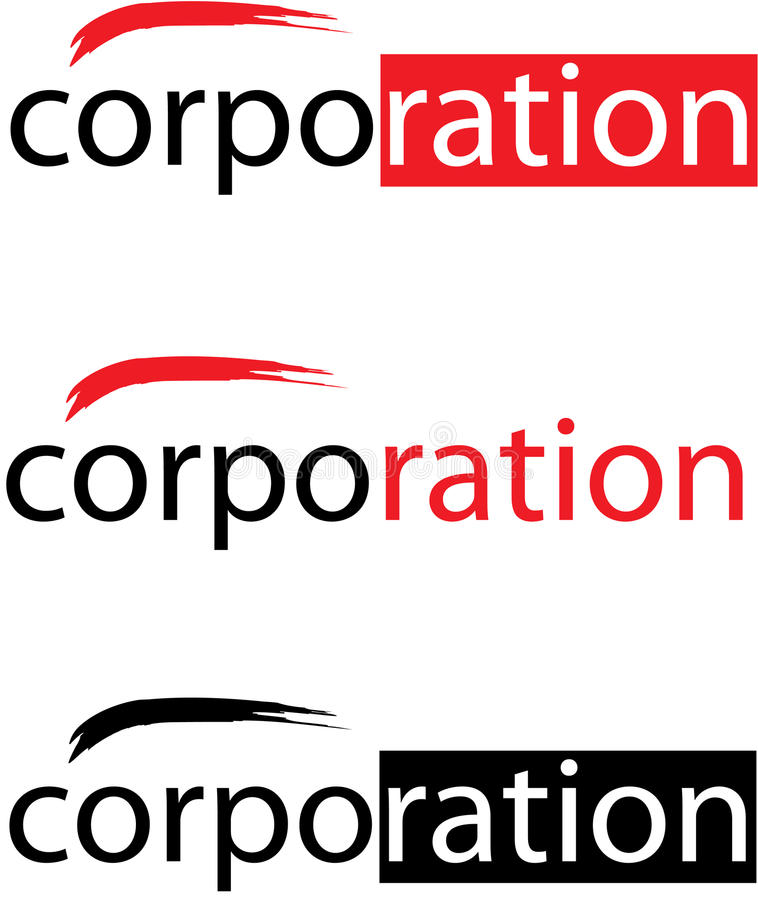 korporationslogovektor stock illustrationer