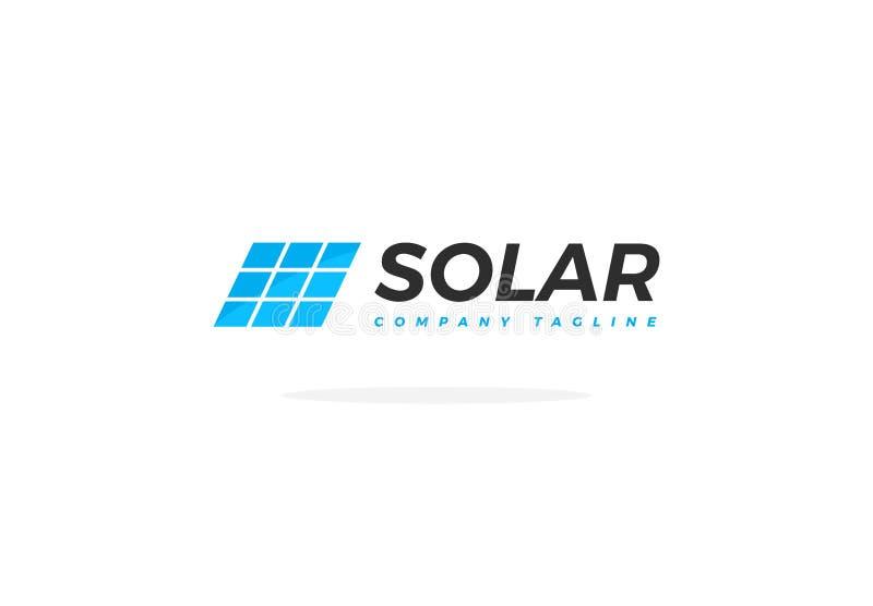 Korporative blaue Sonnenkollektoren Logo Vector Square lizenzfreie abbildung