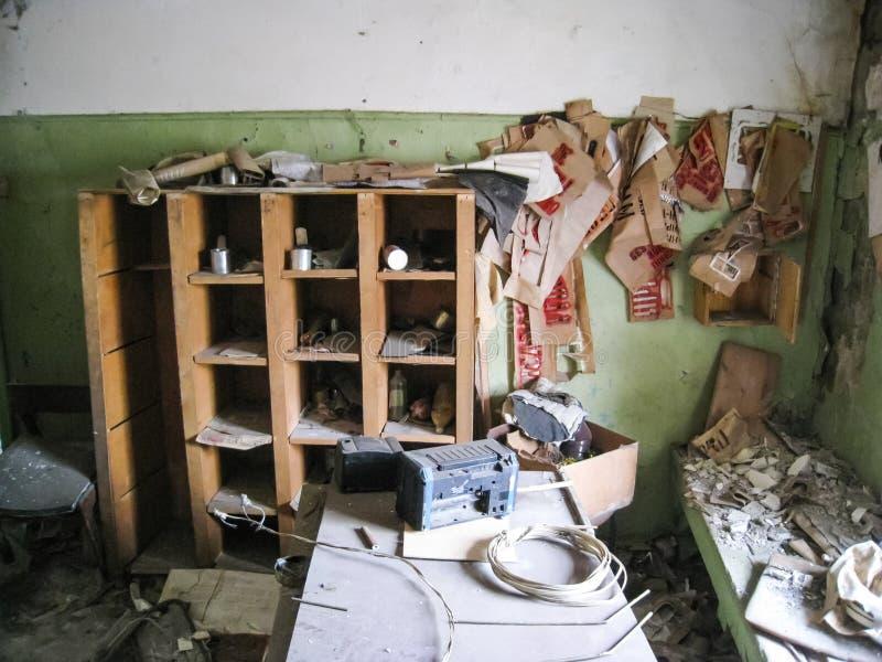 Korpsen en kelderverdiepingen dorm in Khamovniki De oude antieke bouw bouwde vóór de de 19de eeuwvloed royalty-vrije stock afbeelding