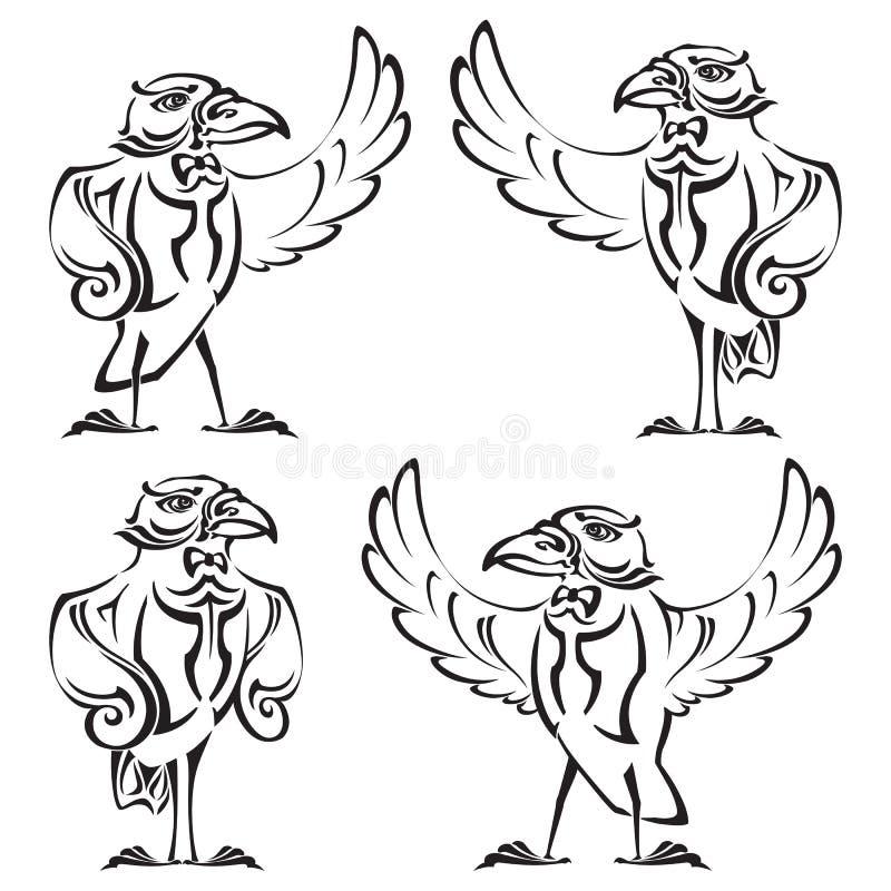 Korpsvart - marskalk royaltyfri illustrationer