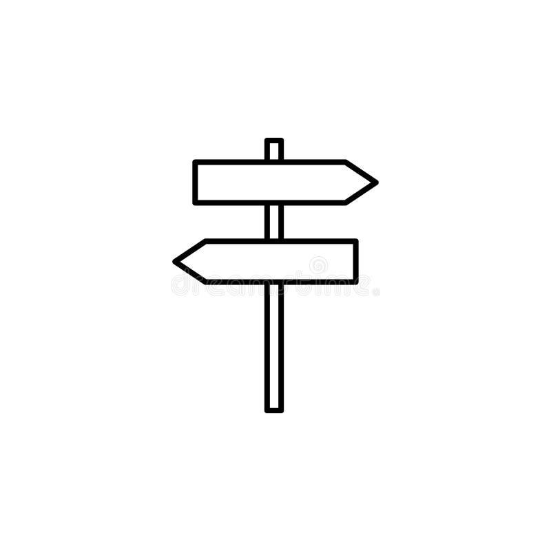 korpulent tecken av riktningssymbolen Beståndsdel av den enkla symbolen för websites, rengöringsdukdesign, mobil app, information stock illustrationer