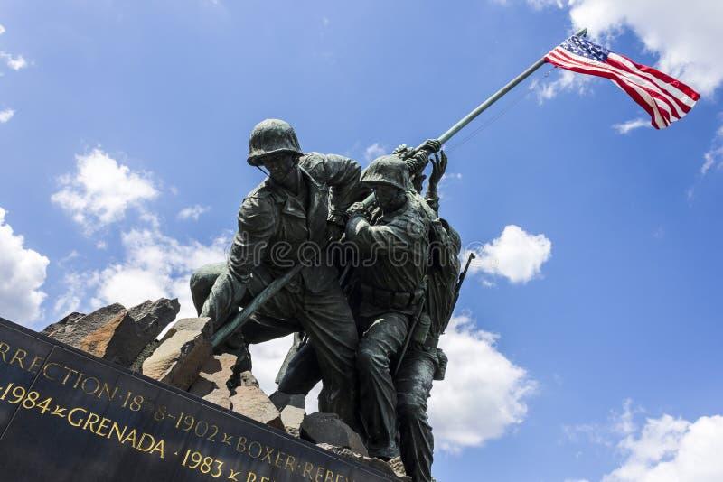 Korpusu Piechoty Morskiej Wojenny pomnik zdjęcie stock