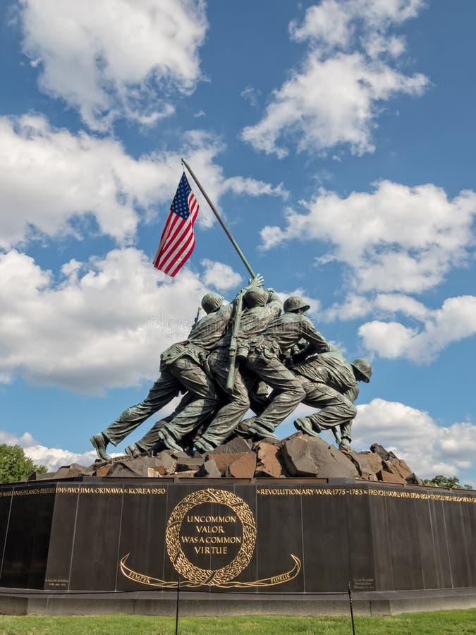Korpusu piechoty morskiej Wojenny pomnik w Arlington, VA zdjęcia royalty free