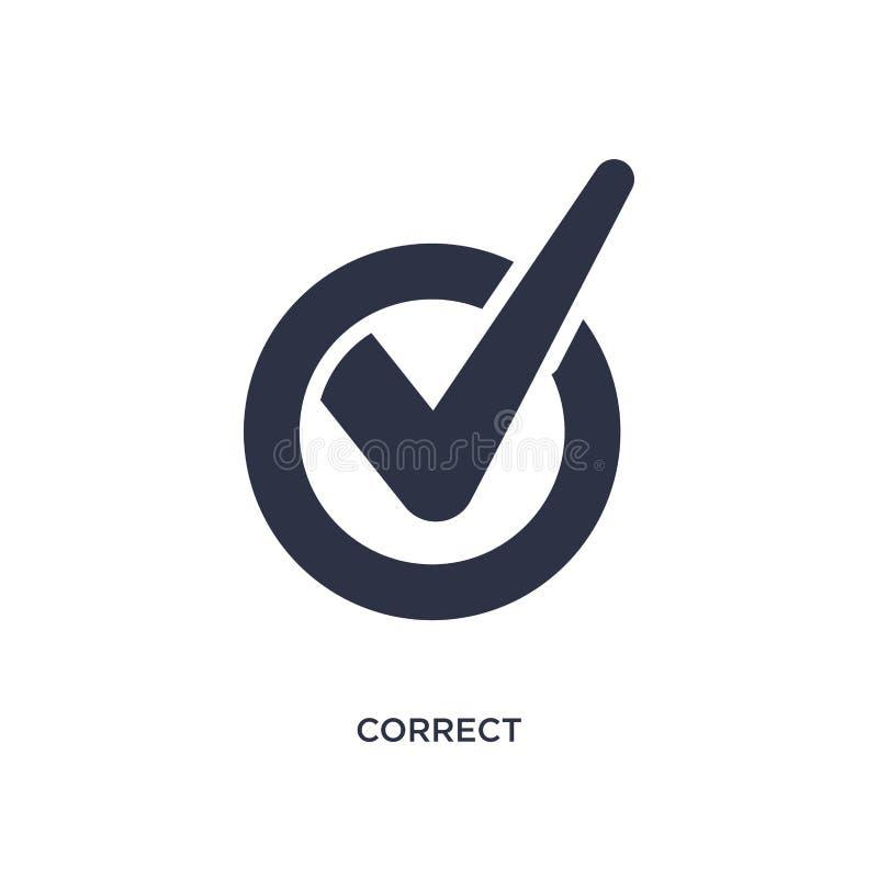 korrekte Ikone auf weißem Hintergrund Einfache Elementillustration vom Benutzerschnittstellenkonzept vektor abbildung