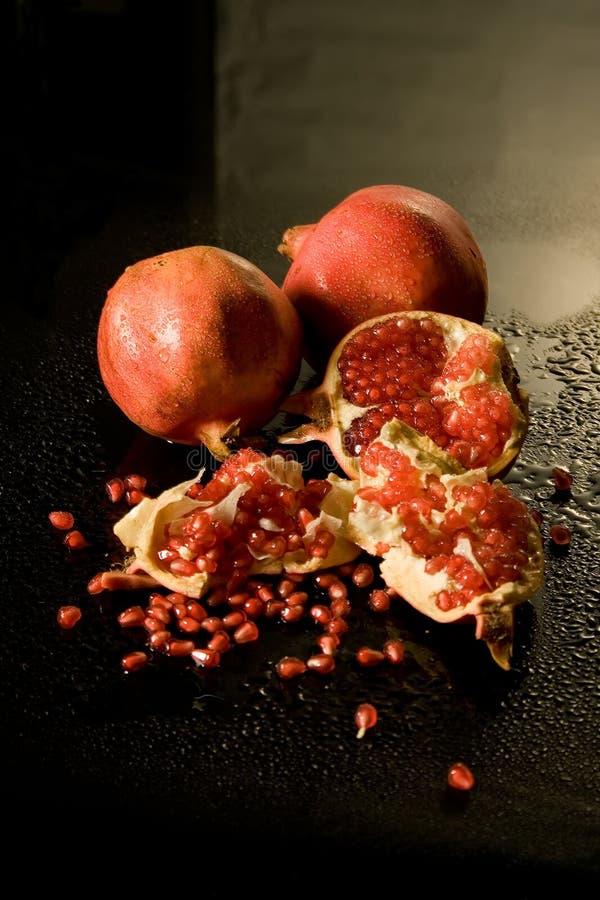 Korrels van granaatappel royalty-vrije stock afbeeldingen