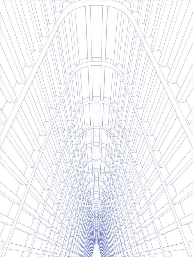 korridor vektor illustrationer