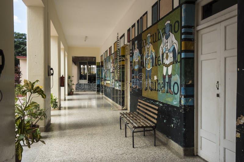 Korridor Art School San Alejandro Havana lizenzfreie stockfotos