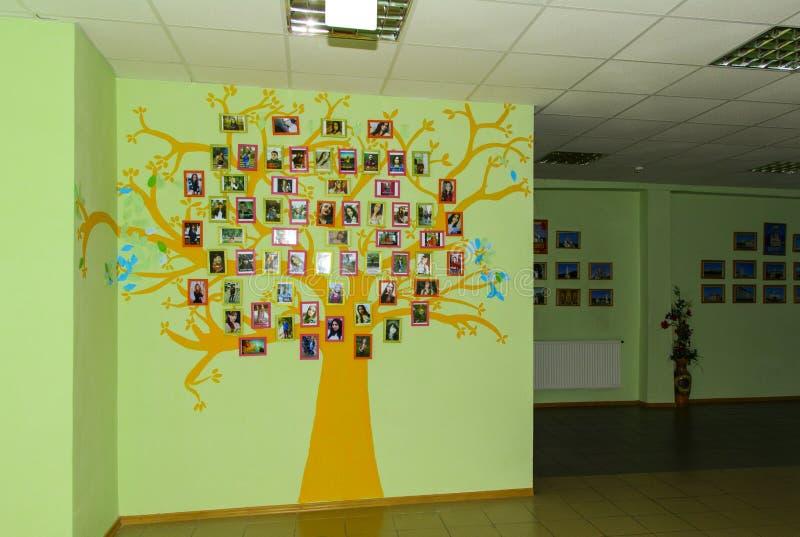 Korridor av Zhytomyr högre utbildningsinstitution i Ukraina royaltyfri foto