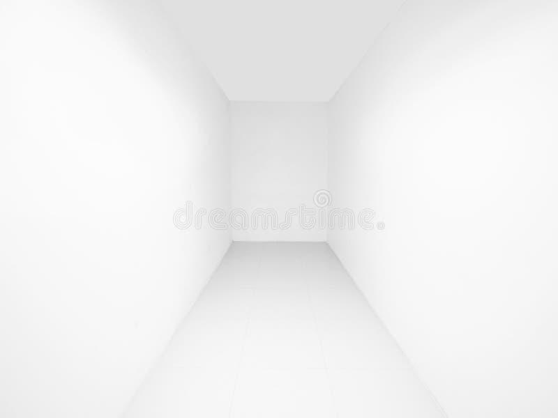 Korridor der Sackgasse oder der Sackgasse im Gebäude mit weißer Wand stockfotografie