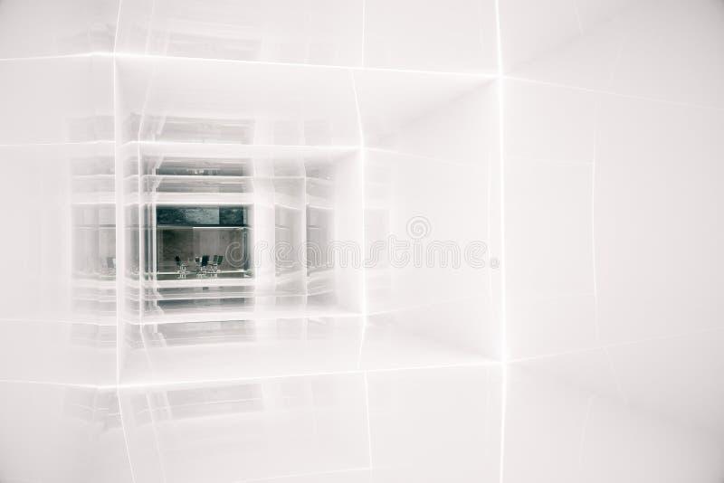 Korridor, der zu Büro führt stock abbildung