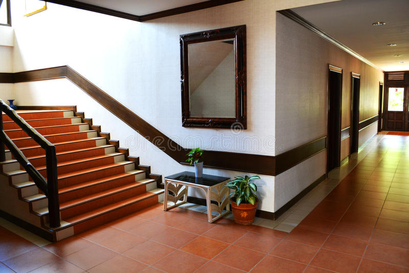 Korridor des Hotels lizenzfreie stockfotos
