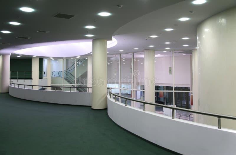 korridor för balkongkonsertfoajé royaltyfri fotografi