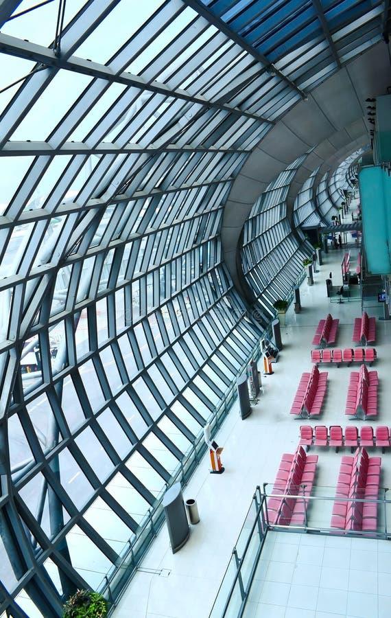 korridor för port för flygplatsbangkok avvikelse fotografering för bildbyråer