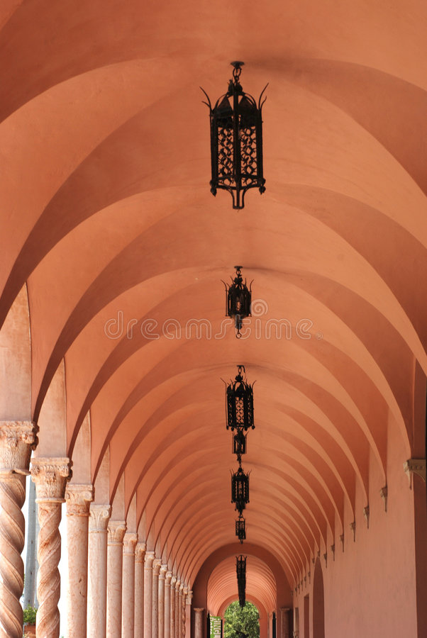 korridor long royaltyfri foto