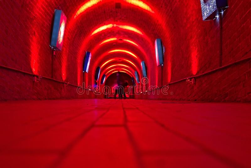 korridor som min annan fotoportföljred ser royaltyfri fotografi