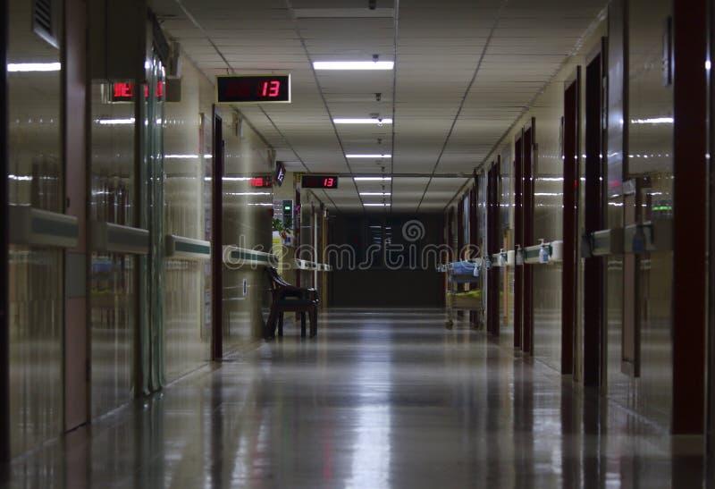 Korridoren av sjukhuset fotografering för bildbyråer
