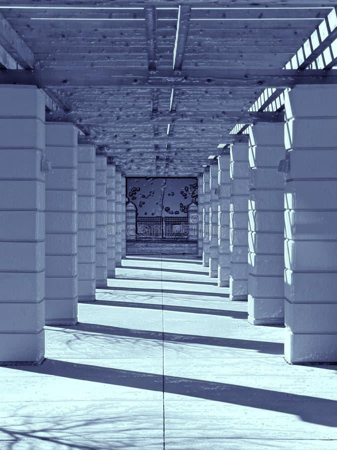 korridorfantasi arkivbild
