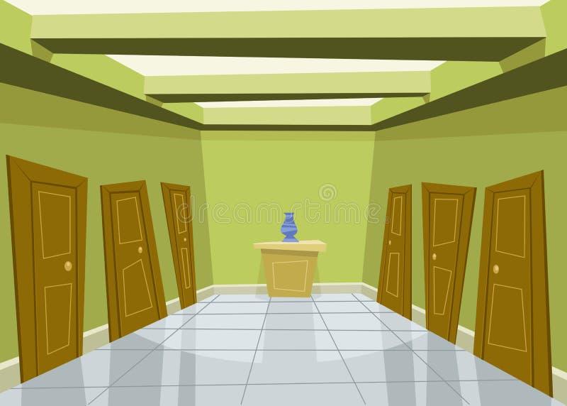 korridorgreen stock illustrationer