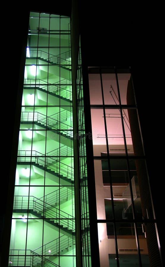 Download Korridorgreen arkivfoto. Bild av högt, uppåt, trappa, natt - 33812