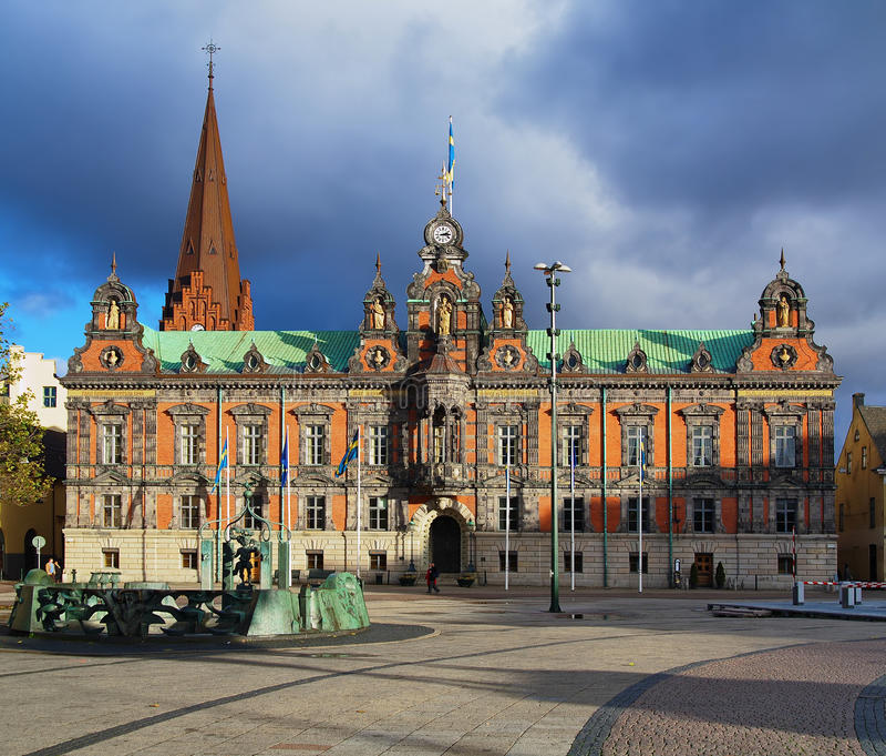 korridormalmo sweden town royaltyfria foton