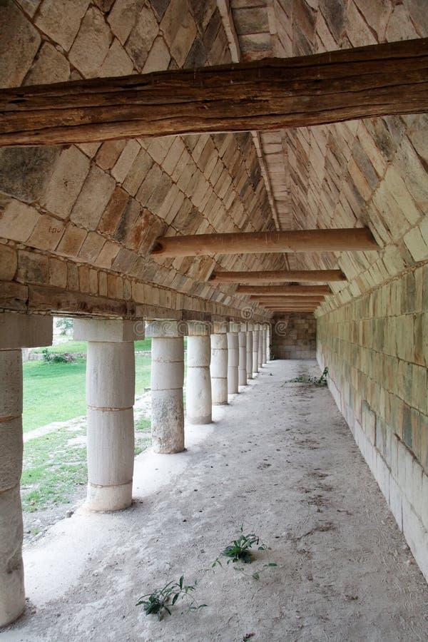korridormexico tempel uxmal yucatan arkivfoto