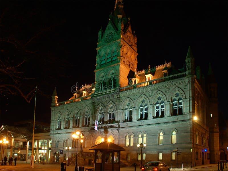 korridortown arkivfoto