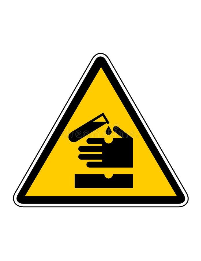 korrosionsfara stock illustrationer