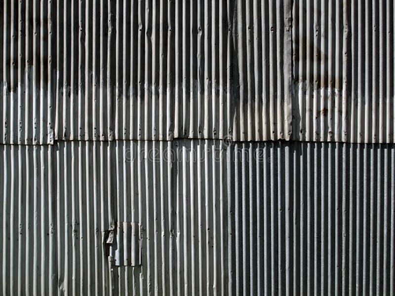 Korrugerad metallvägg royaltyfria foton