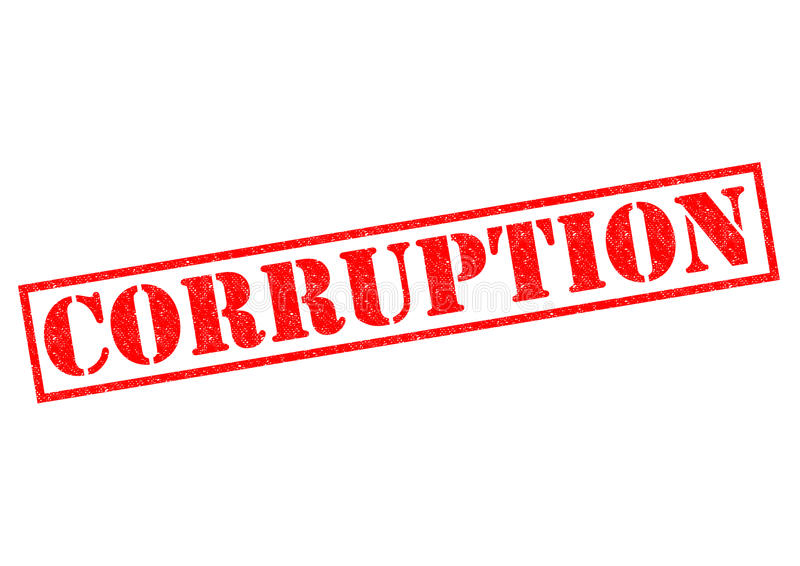 korruption royaltyfri illustrationer