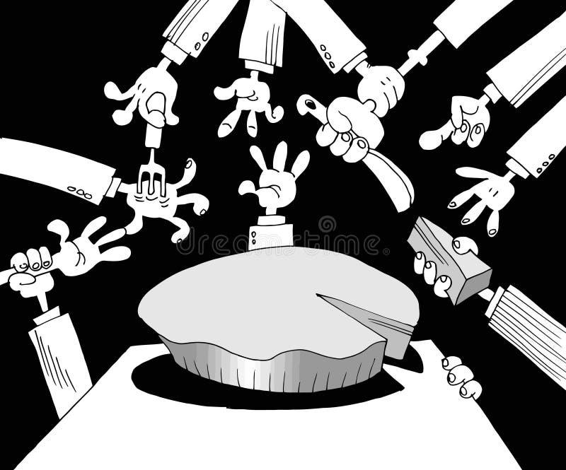 Korruption i politik vektor illustrationer