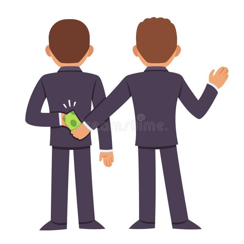 Korruption och bestickning stock illustrationer