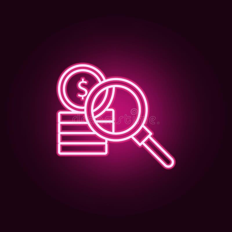 Korruption pengar som s?ker neonsymbolen Best?ndsdelar av lag- & r?ttvisaupps?ttningen Enkel symbol f?r websites, reng?ringsdukde vektor illustrationer