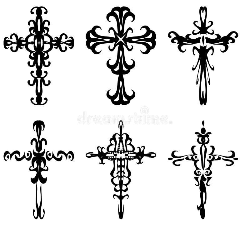 kors royaltyfri illustrationer
