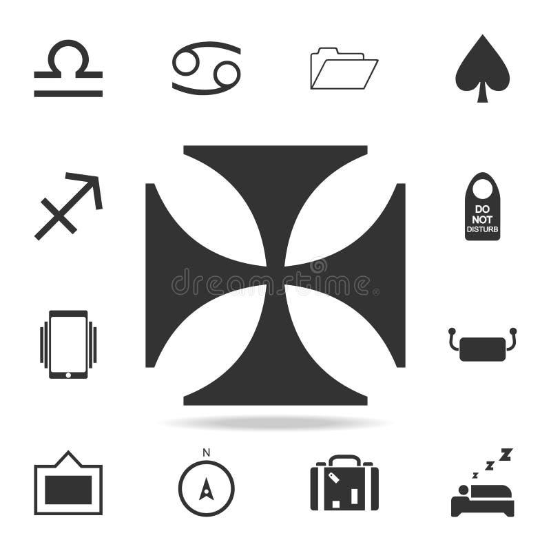 kors av den riddareTemplar symbolen Detaljerad uppsättning av rengöringsduksymboler Högvärdig kvalitets- grafisk design En av sam royaltyfri illustrationer