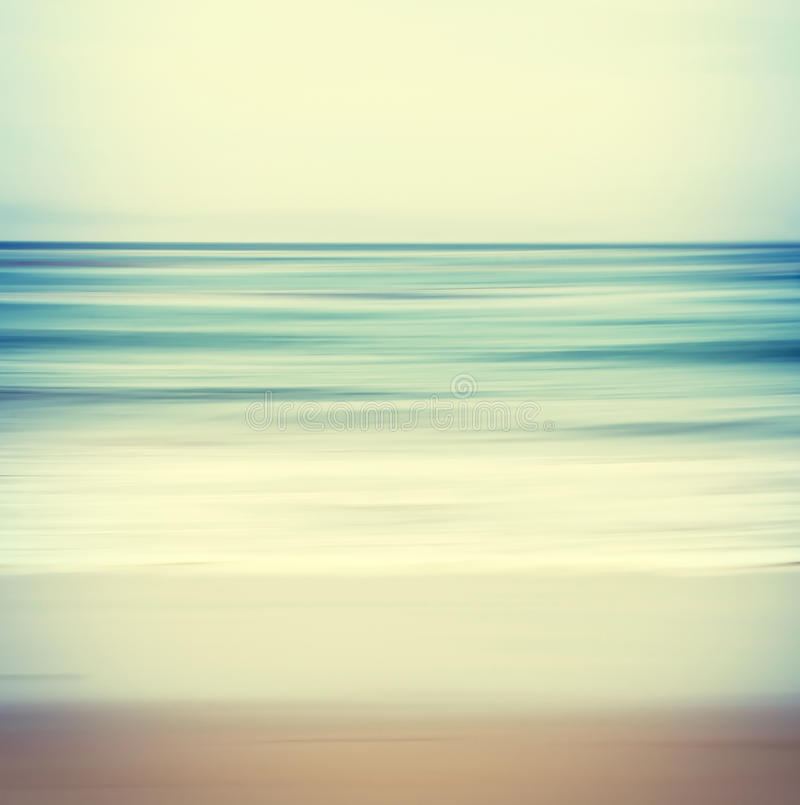 Kors-bearbetad Seascape arkivbilder
