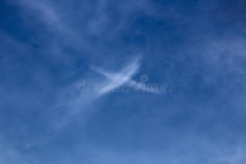 Kors i himlen royaltyfri foto