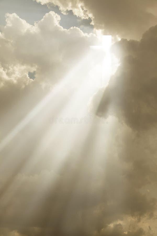 Kors i himlen royaltyfri fotografi