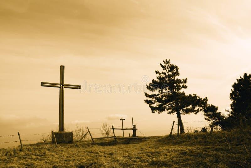 Kors på berget arkivfoton