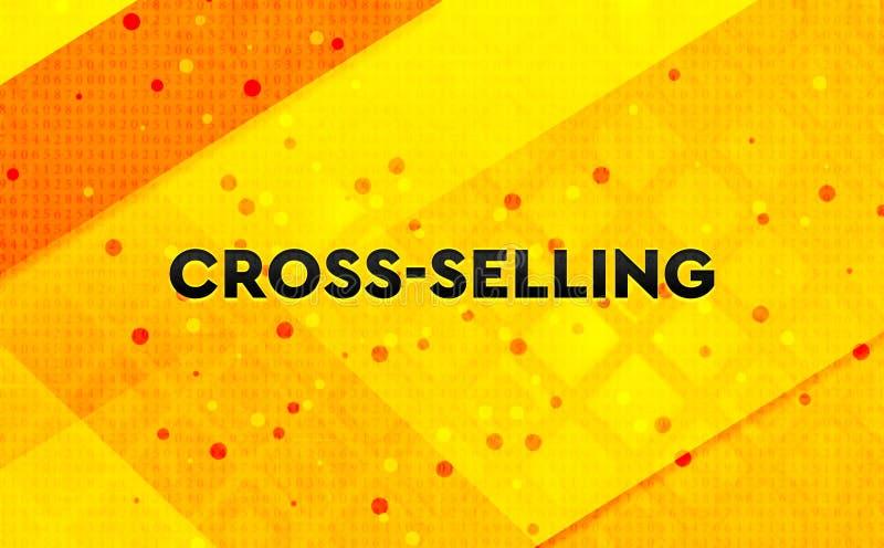 Kors-sälja gul bakgrund för abstrakt digitalt baner vektor illustrationer