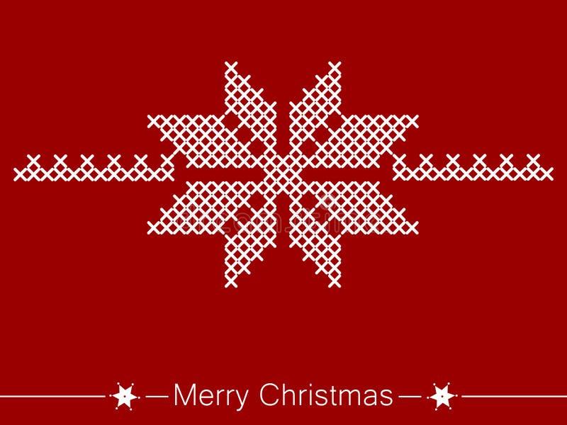 Kors-sy anvisning med blomman för jul royaltyfri illustrationer