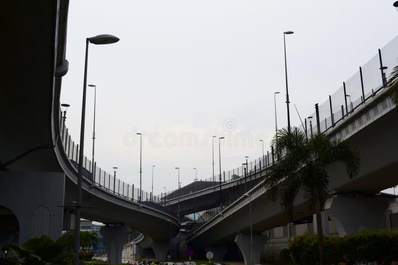 Korsa huvudv?gfast utgift i Malaysia royaltyfri fotografi