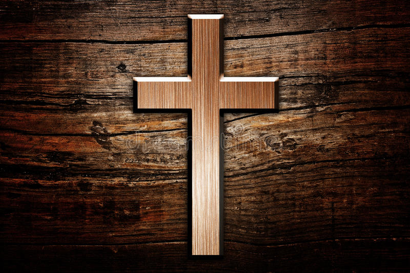 Korsa på trä royaltyfri foto