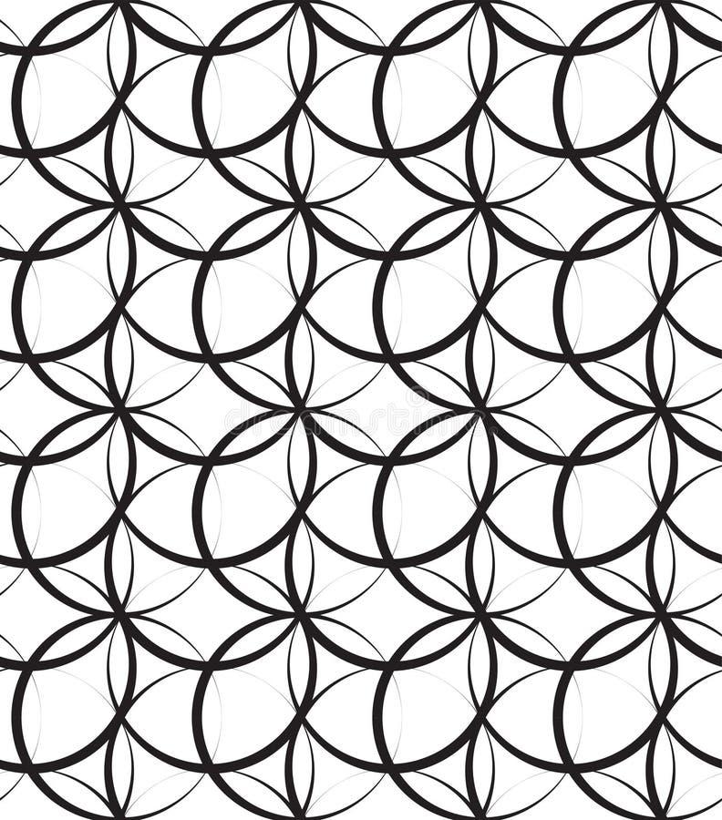 KORSA SLAGLÄNGDBÅGEN SÖMLÖS VEKTORMODELL FÖR MODERN ELEGANT GEOMETRISK CIRKEL stock illustrationer