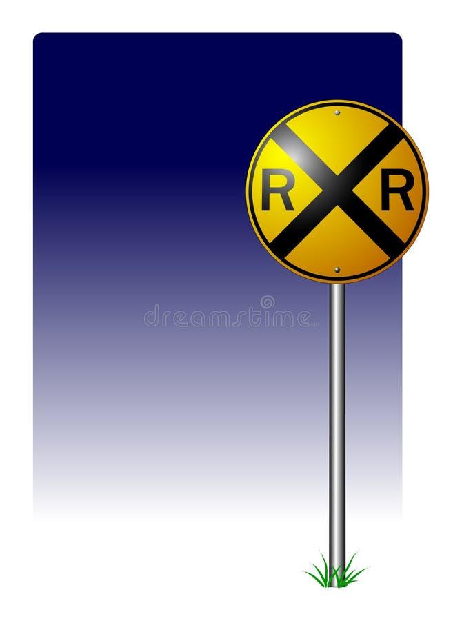 korsande järnvägtecken vektor illustrationer