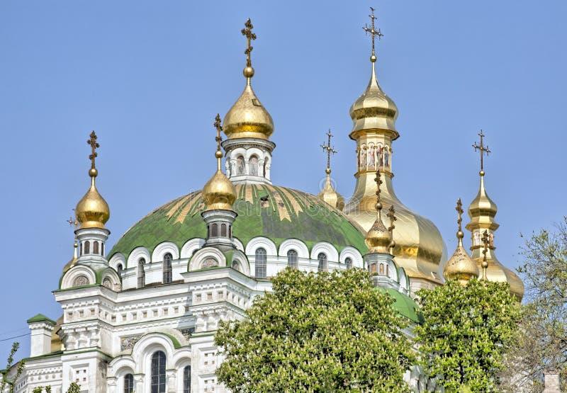 korsar guld- ortodoxt för kupoler royaltyfria bilder