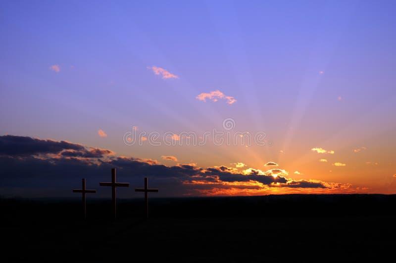 korsar solnedgång arkivfoton