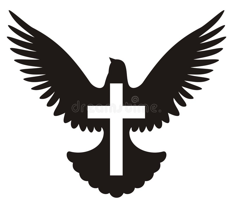 korsduvasymbol arkivbild