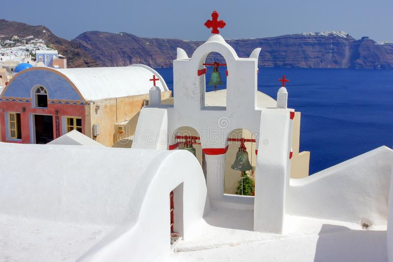 Korsen av grekiska kyrkor royaltyfri bild