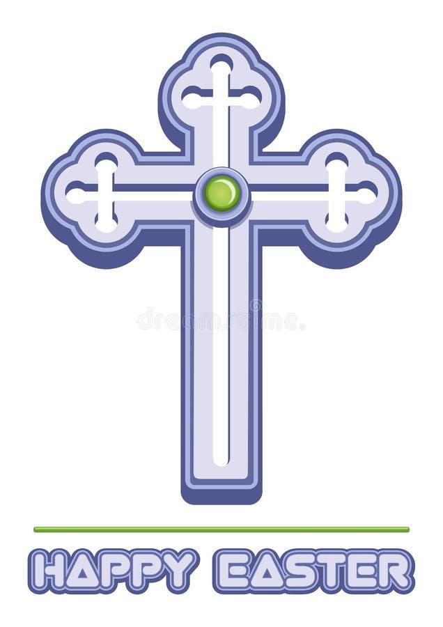 Korset är ett symbol av kristendomen royaltyfri illustrationer
