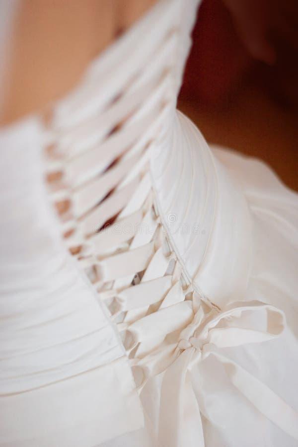 korsettklänningbröllop arkivfoto